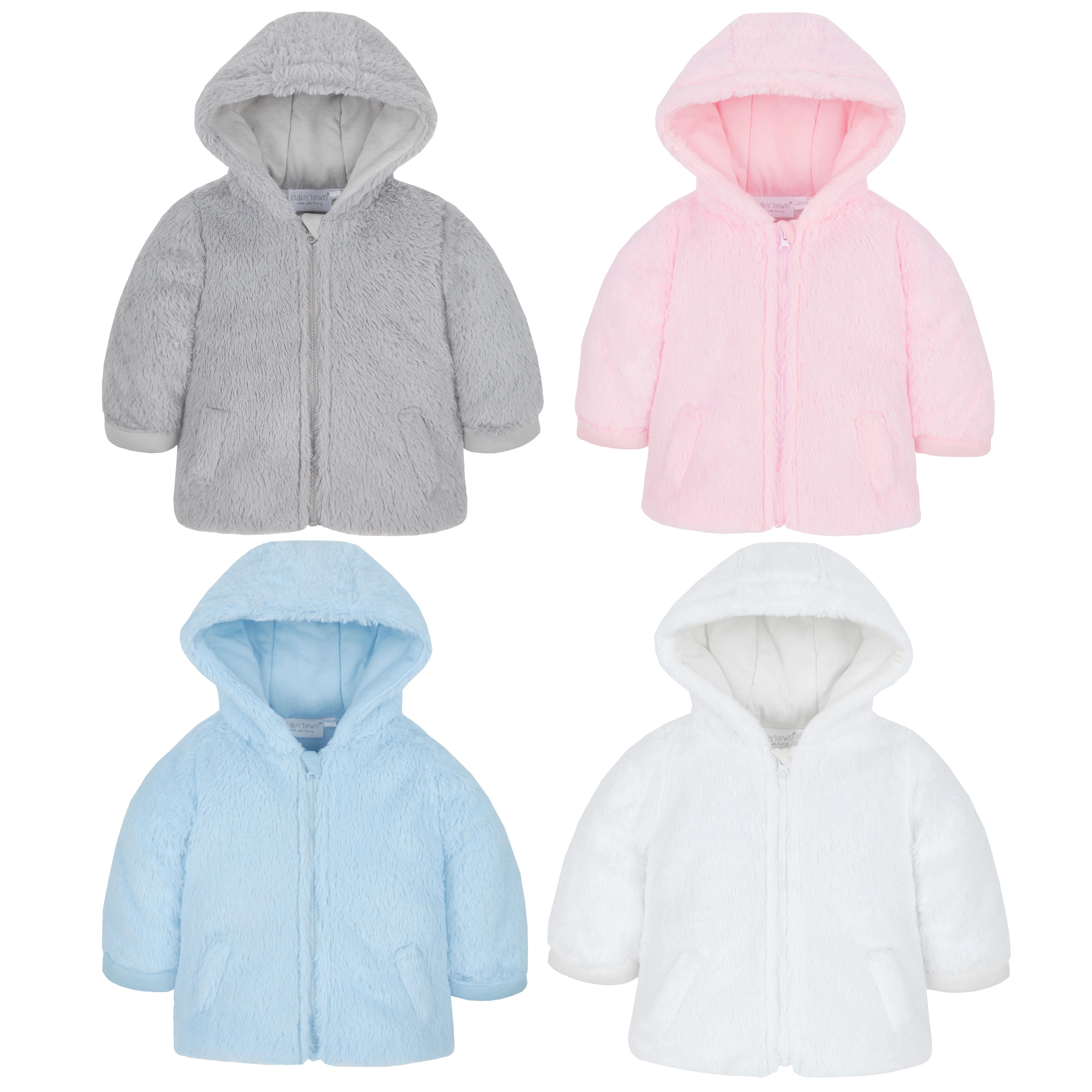 b22f8a9bb Baby Unisex Coat Jacket Newborn Fluffy Hood Zip Up Warm Puffer Girls ...