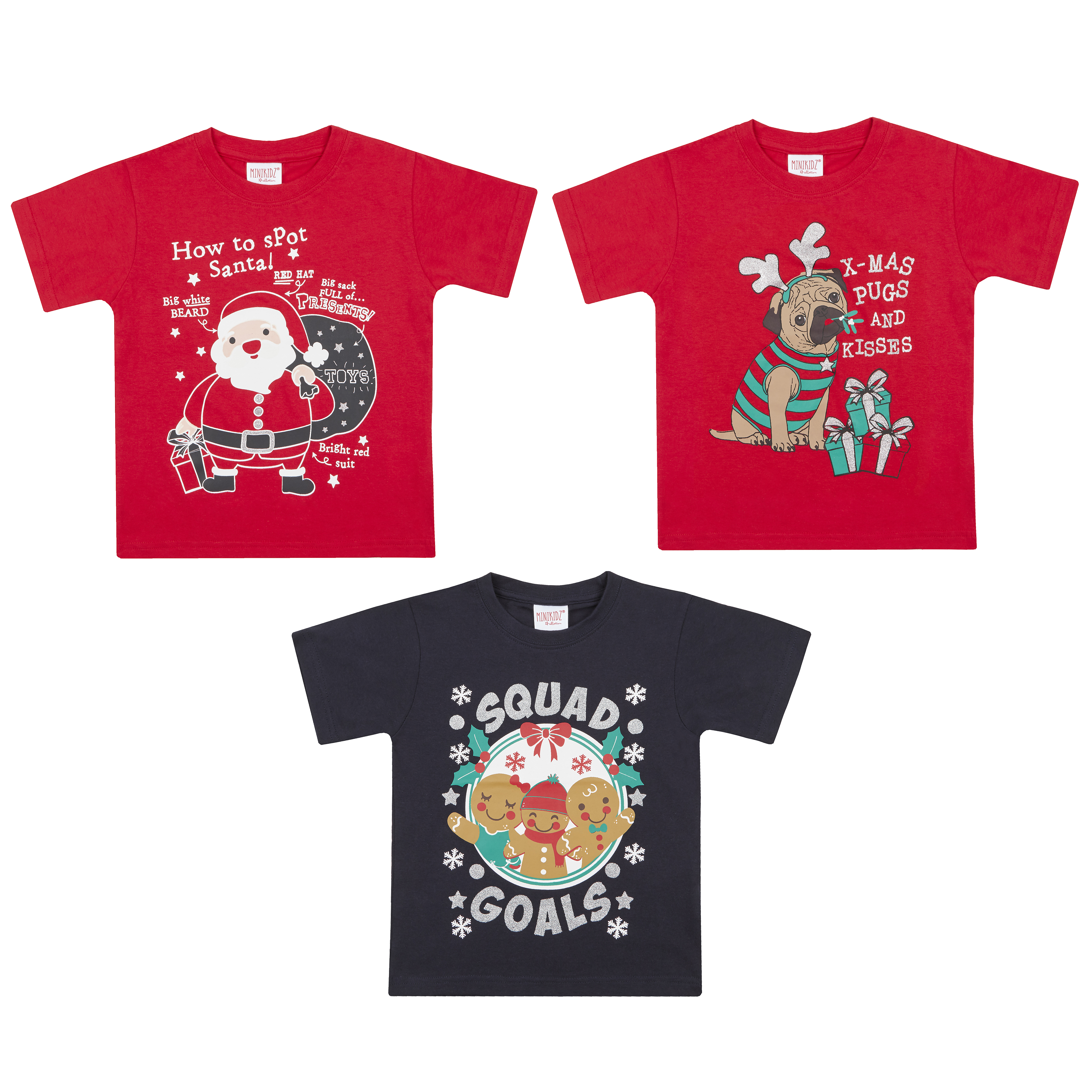 ccfe1f18 Infant Kids Children's Christmas T-shirt Xmas Novelty Cotton Girl Boy Top  Santa