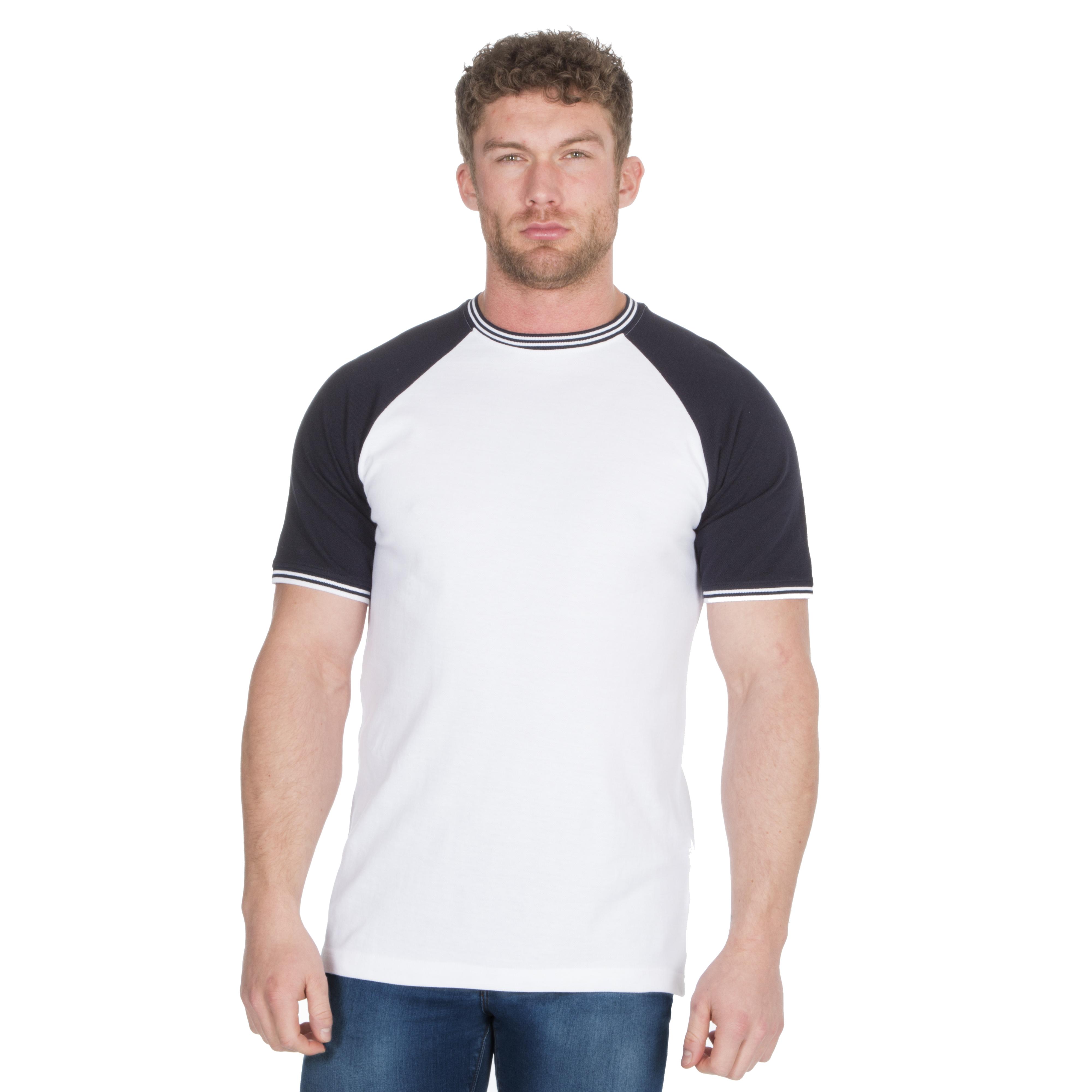 Men/'s Striped Crew Neck Short Sleeve T-Shirt Top All Sizes S-XXL