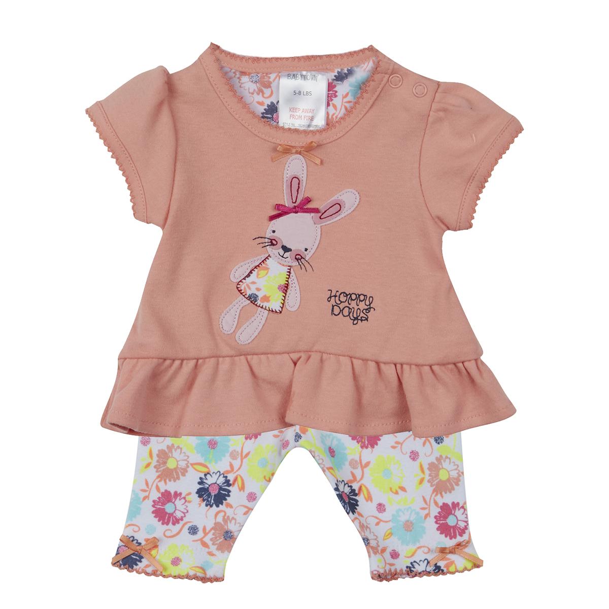 BABYTOWN Premature Baby Girls Novelty Summer Clothes T-Shirt /& Leggings Set