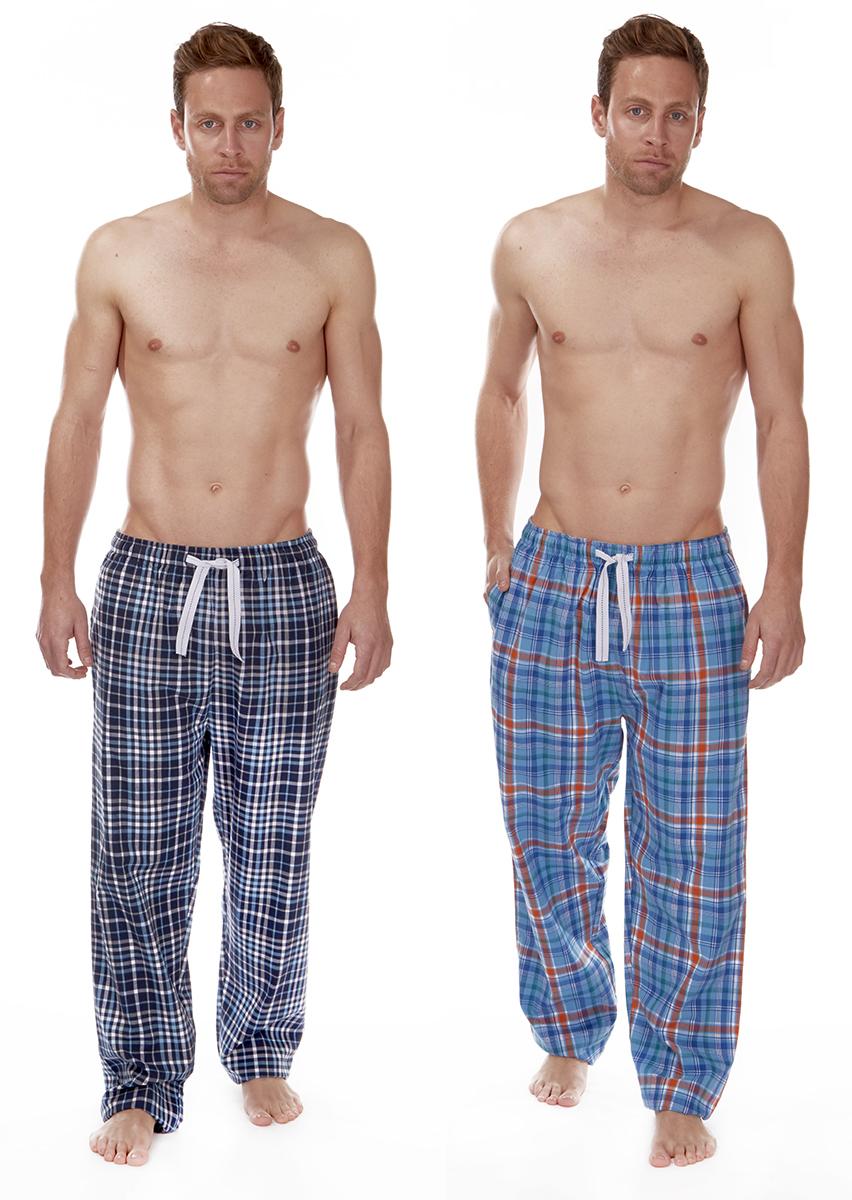 Cargo Bay Mens Lounge Pants Pj Pyjama Bottoms Check Print