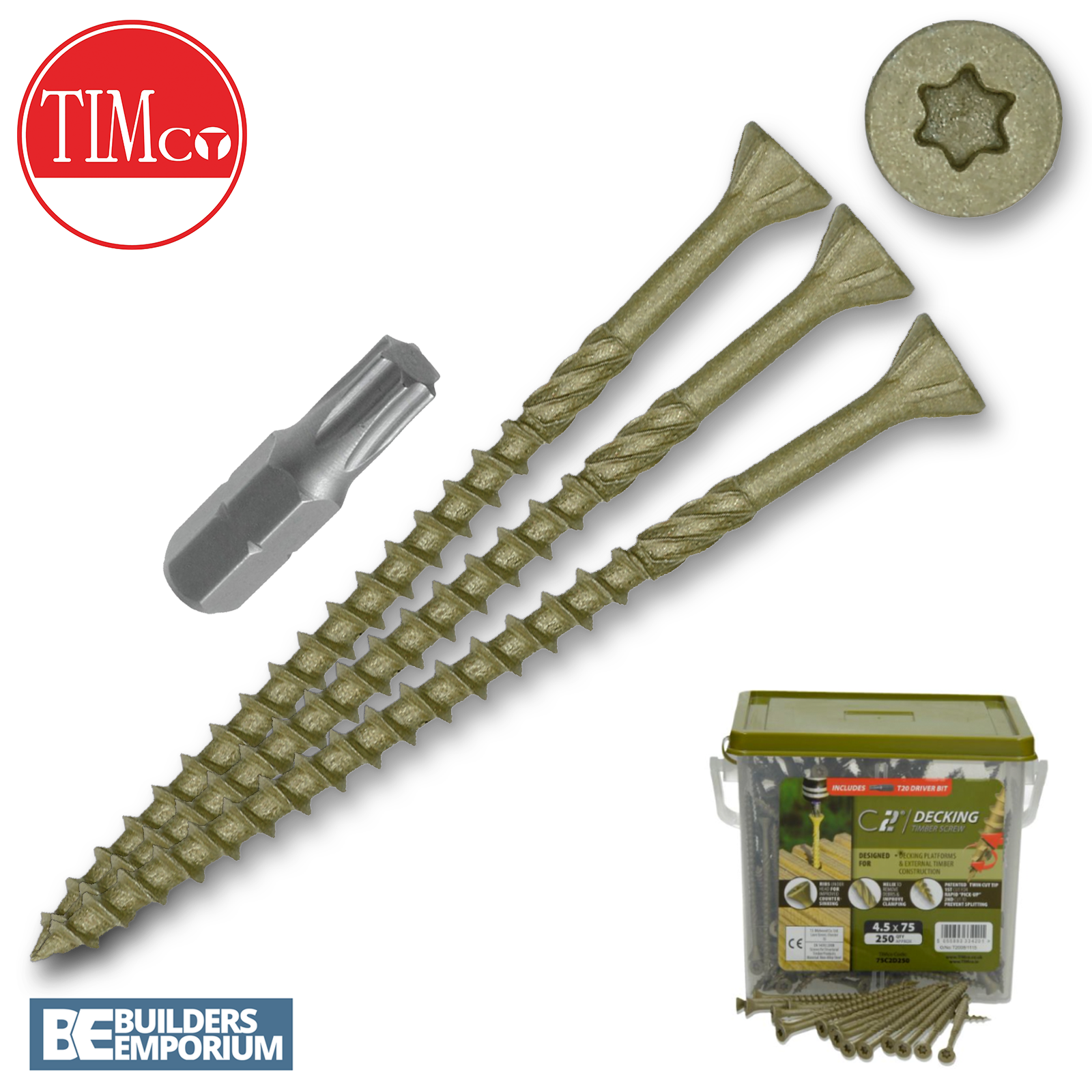 Details about TimCo Decking Screws Green Professional TRADE Quality ALL  SIZES