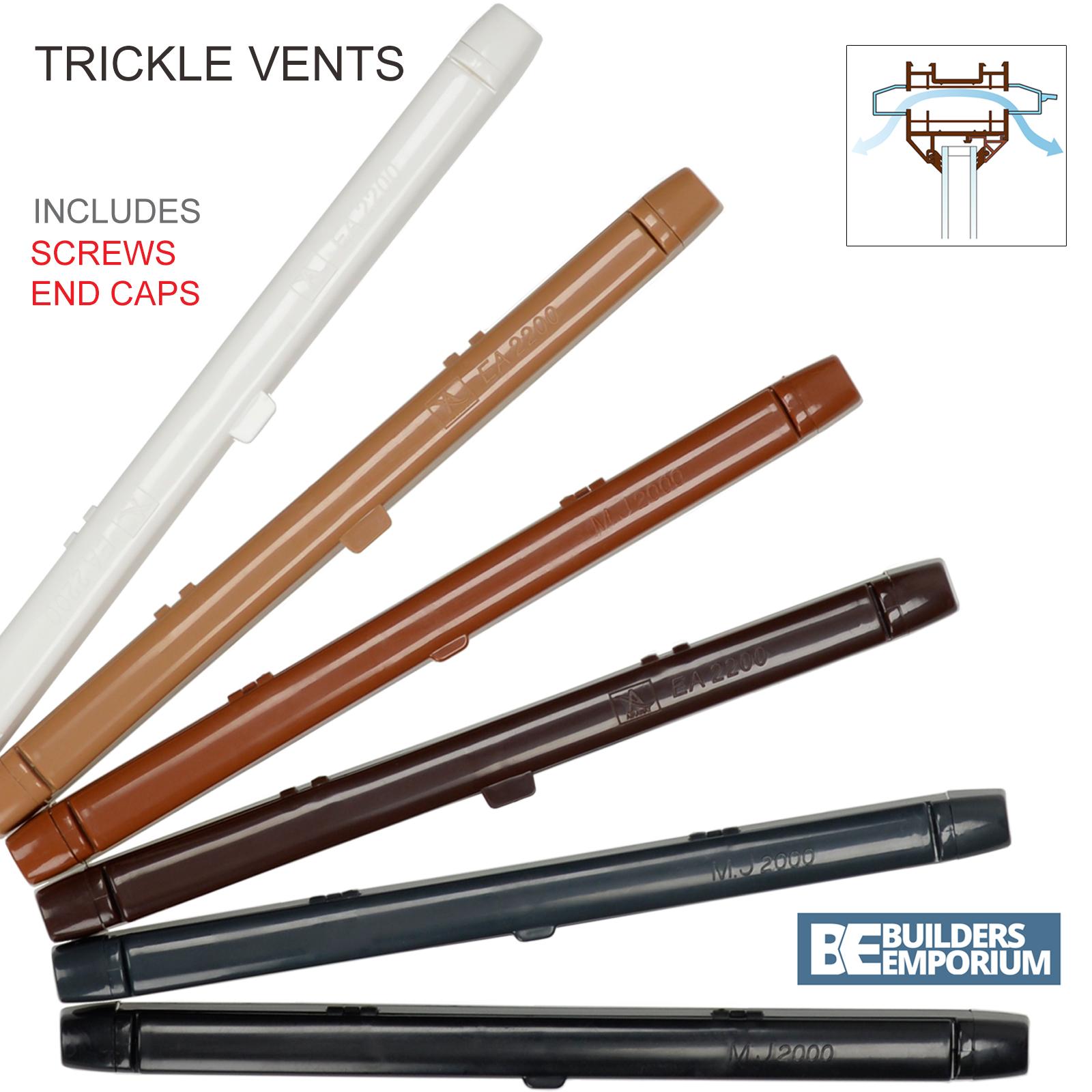Trickle Fente Vents 260 mm ou 410 mm ventilation uPVC /& Bois Fenêtre