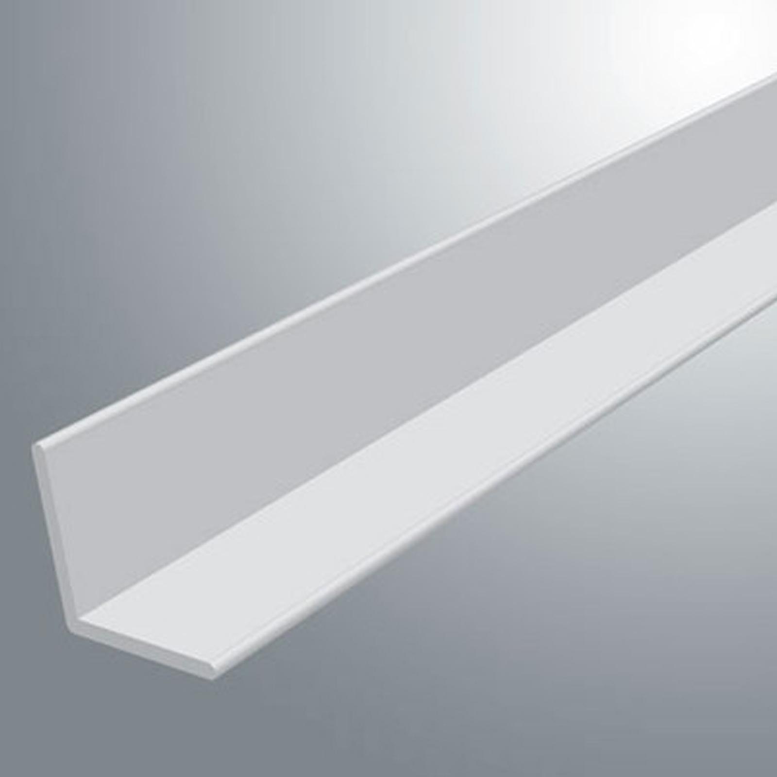 White Plastic Pvc Corner 90 Degree Angle Trim 2 44 Meters