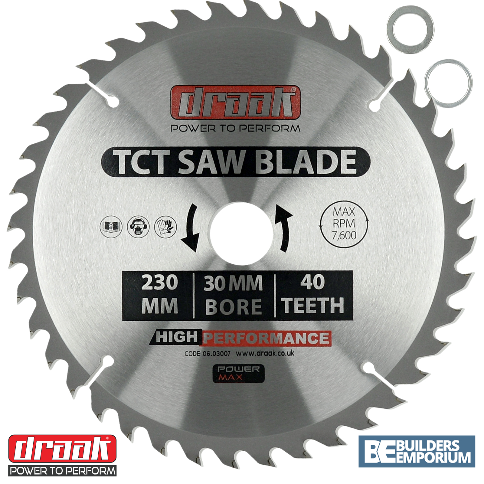 Draak 230mm x 30mm bore 40 tooth tct circular wood saw blade makita sentinel draak 230mm x 30mm bore 40 tooth tct circular wood saw blade makita bosch greentooth Image collections