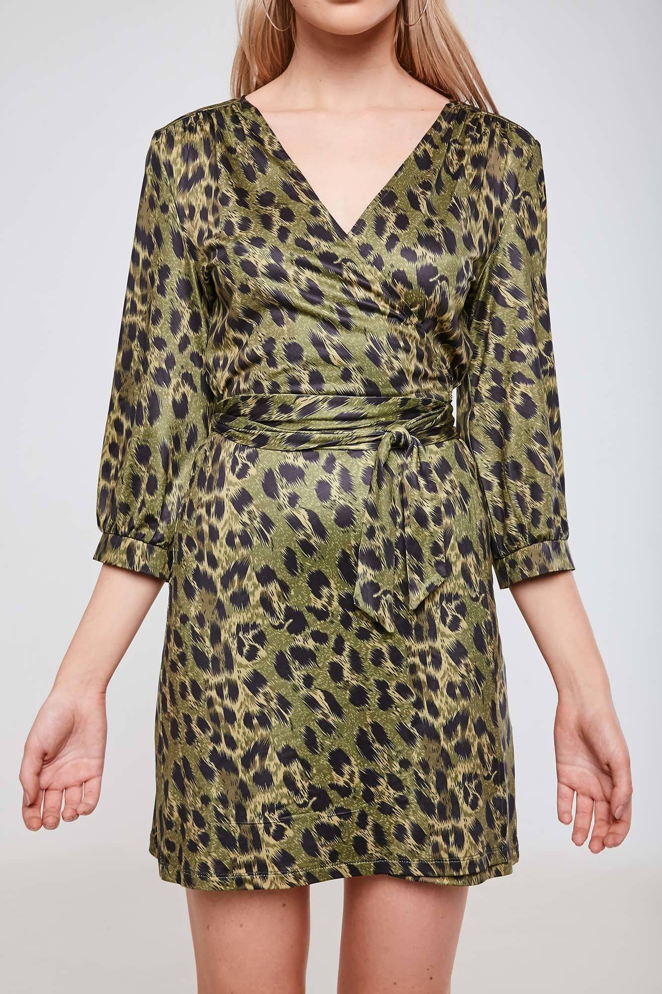 Leopard Print Long Sleeve Wrap Dress The Best Leopard 2018