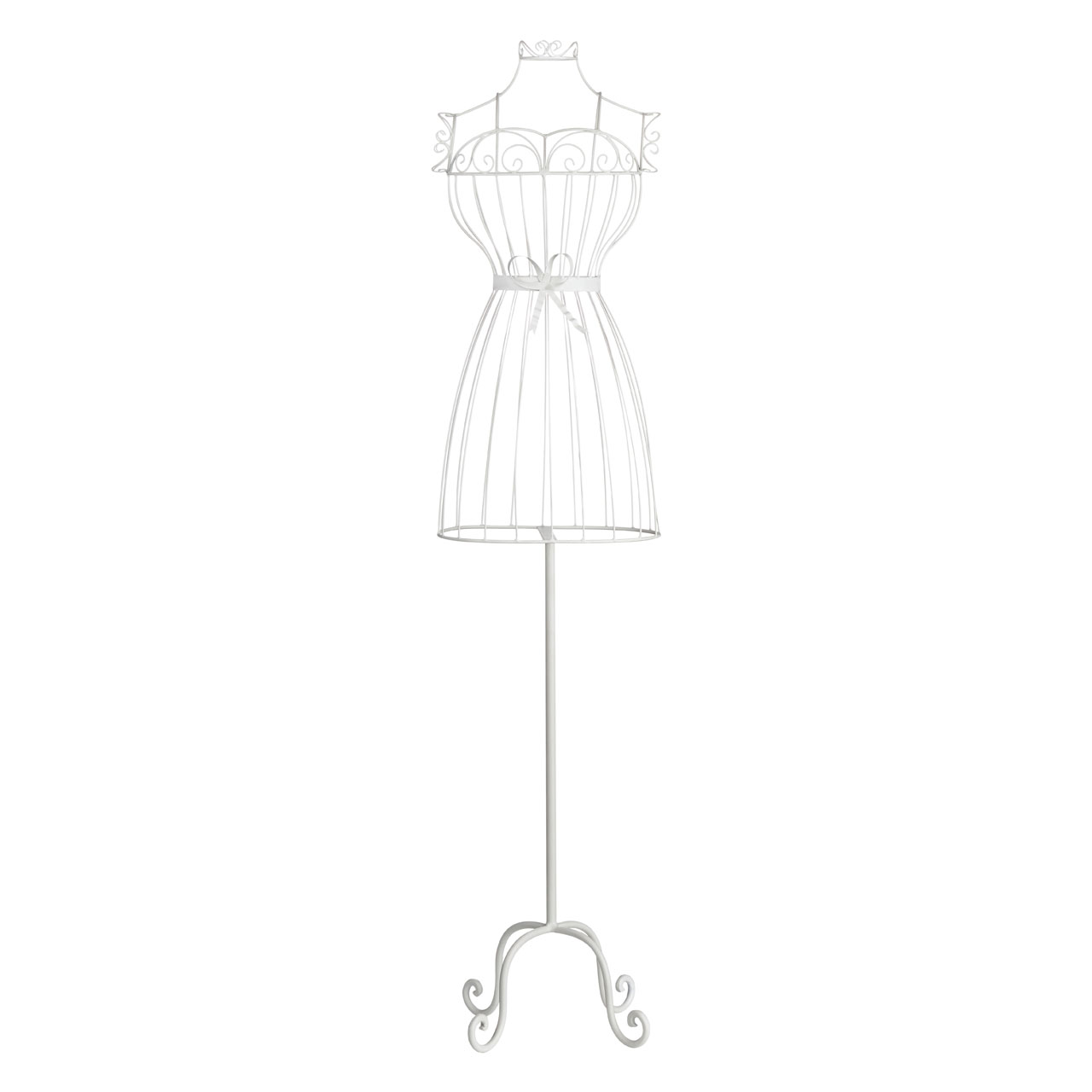 Modern White Wire Chic Hourglass Dress Annabelle Hollow Mannequin ...
