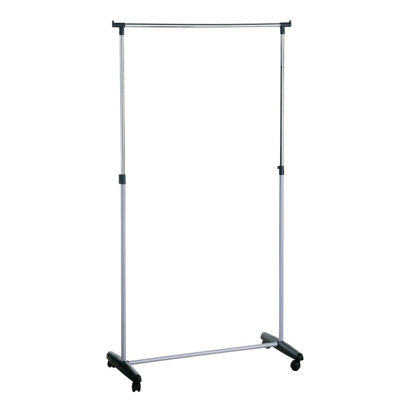 Adjustable Portable Clothes Rack/Rail/Hanger Castors/Show/Wardrobe ...