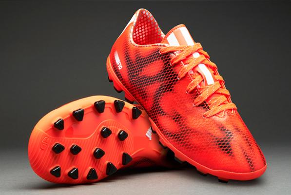 jungs adidas f10 ag solar red fußball fußball - geformte studs größe 10 6 us -
