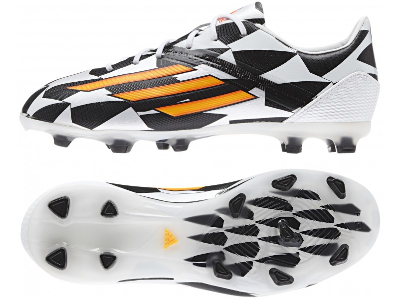 online store 458e6 a207e New Boys Adidas F50 Adizero Firm Ground World Cup Black White Football Boots