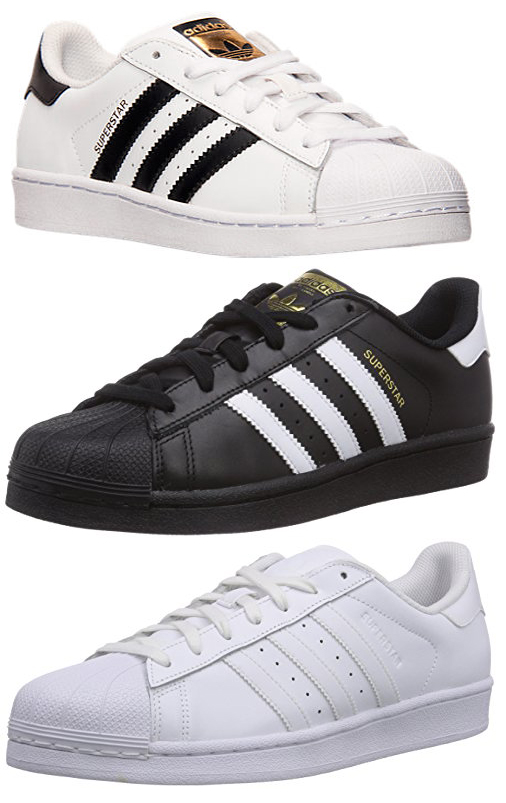 New Hombre Adidas Superstar Foundation Leather Trainers Blanco Negro Negro Blanco b39616