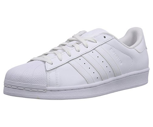 New Mens Adidas Superstar Foundation Leather Trainers White Black Shoes Lace Up