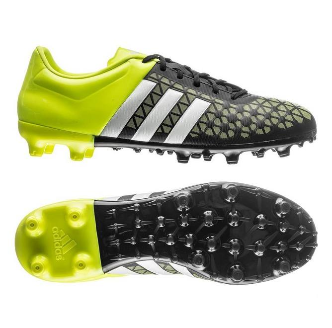new concept 45769 23216 Kids Boys Adidas Ace 15.3 FG Black Yellow Moulded Studs Football Soccer  Boots