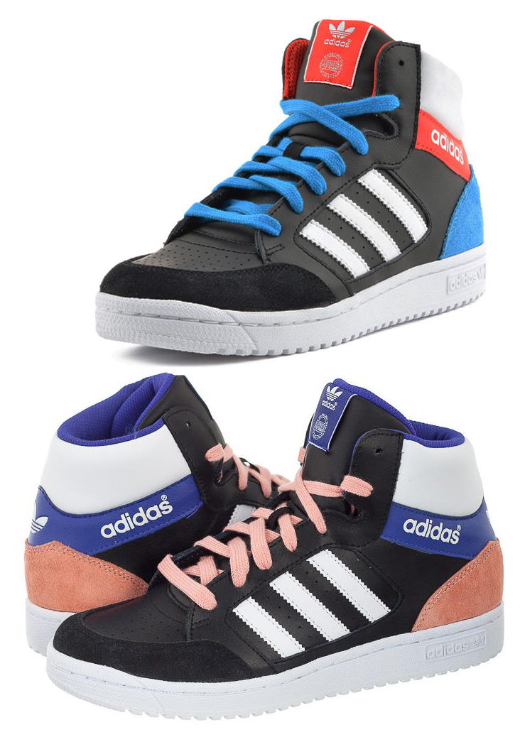 02812fd2e2b5 ... real adidas pro play older kids boys girls smart casual hi top trainers  size 3 6