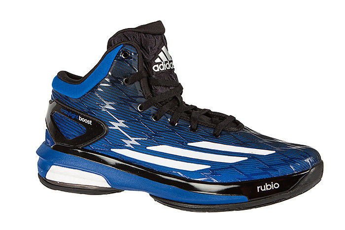 Mens Adidas Crazy Light Boost Classic Basketball Boots Trainers Shoes Black  Blue f7a32a2b86b3