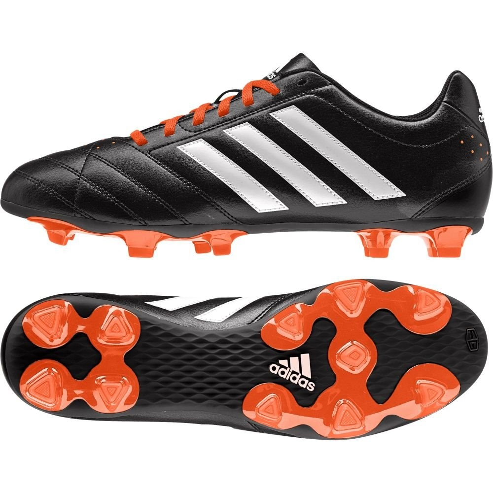 adidas Goletto V FG Black Orange Mens Lace Up Football Boots Moulded Studs;  Picture 2 of 2