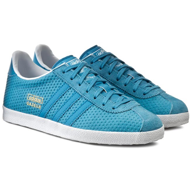 Womens Gazelle Trainers, Blue adidas