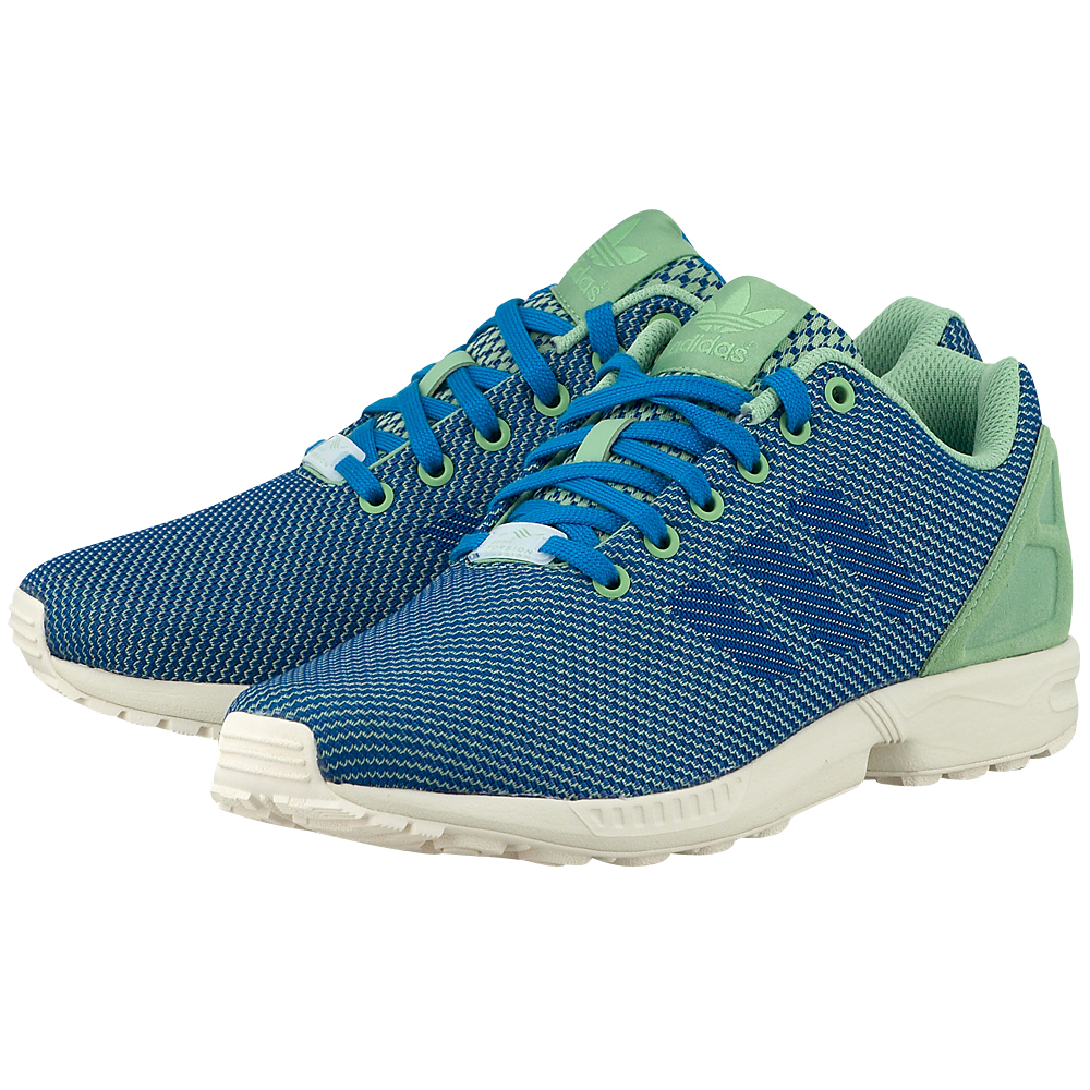 New Homme Vert adidas ZX Flux Weave Super Vert Homme Running Sports Chaussures Trainers Sneakers b350cc