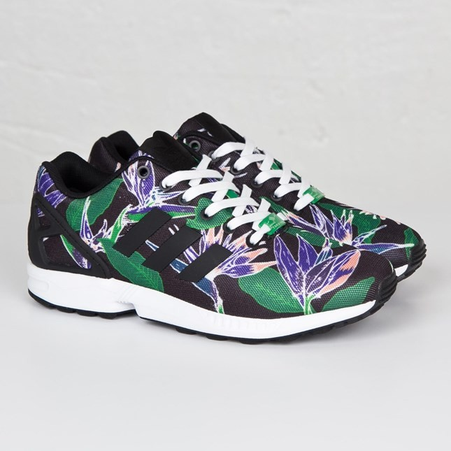 finest selection 1e9b8 1f28e Details about New Mens adidas ZX Flux Floral Classic Running Sports Shoes  Trainers Sneakers