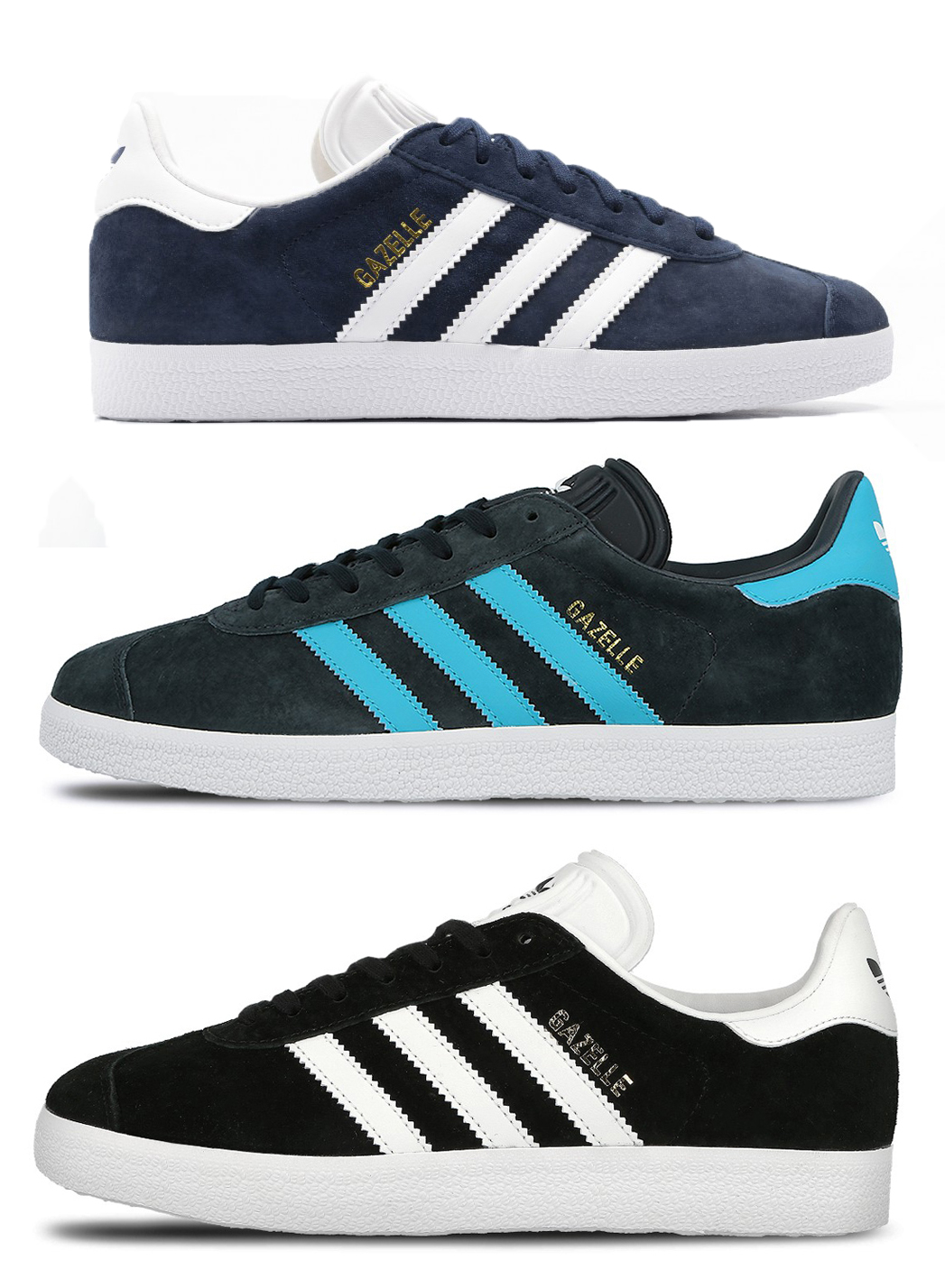 best website c3d9a 2170f New Mens adidas Gazelle Originals Smart Casual Leather Classic Shoes  Trainers
