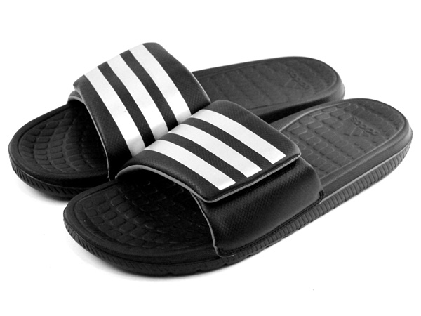 c098960016ee Mens adidas Voloomix Vario Black Touch Fasten Flip Flop Slip On Slides  Sandals