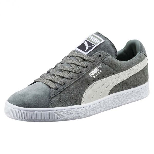 Puma Unisex Agave Green White Suede Classic Shoes Trainers Sneakers ... 36f19745b