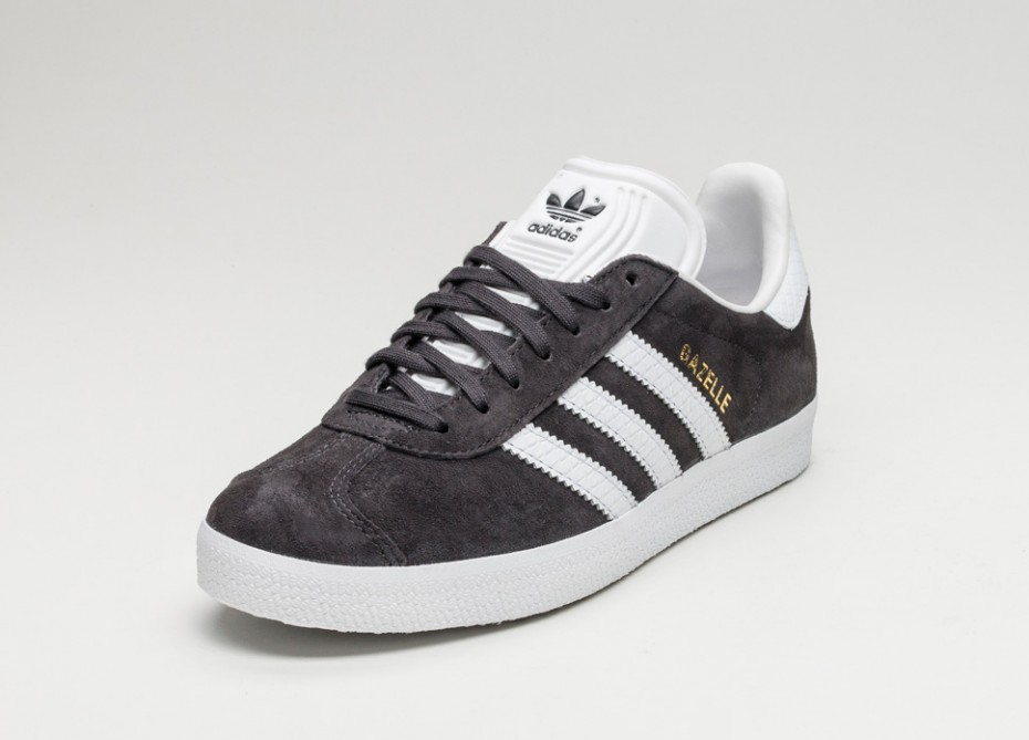 adidas gazelle white leather trainers