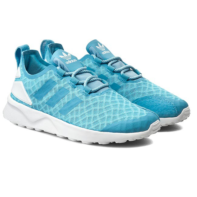 adidas donne zx flusso avanzata verve basso alto scarpe blu formatori, regno unito
