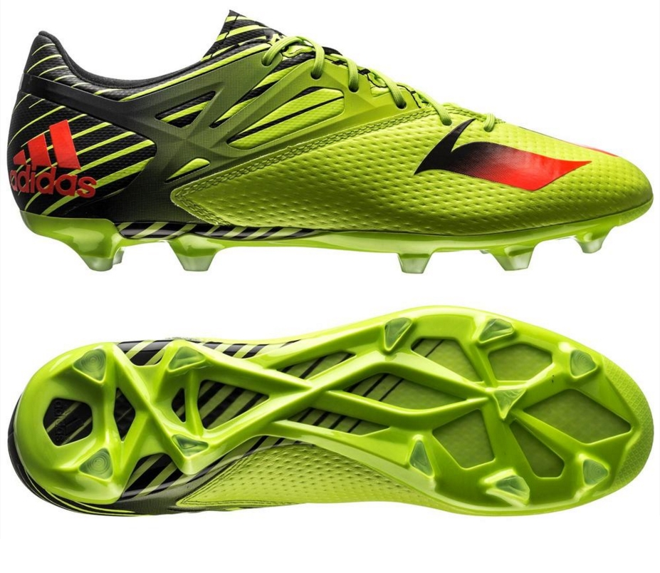 c1a277d6a0 Mens adidas Messi 15.2 FG AG Firm Ground Football Boots Lime Green Yellow