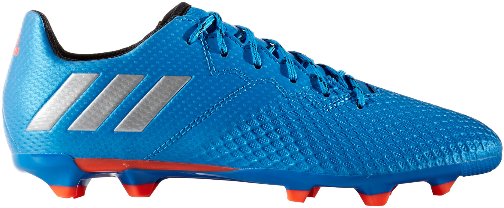 brand new 7bce3 25dc9 Boys adidas Messi Junior 16.3 FG Blue Silver Moulded Studs Soccer Football  Boots