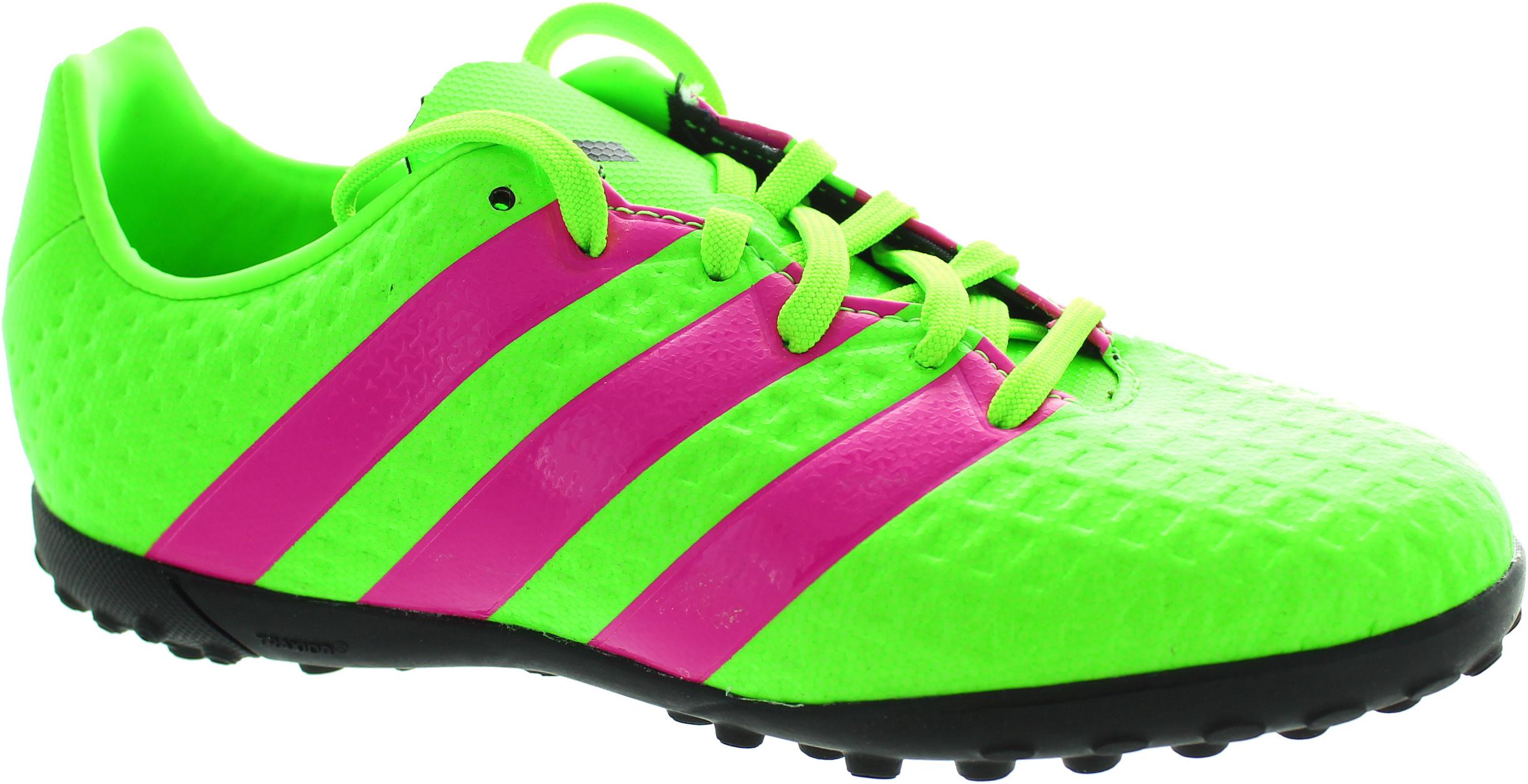 f3d350706c8ec2 adidas Kids Boys Junior 16.4 Ace Football Astro Turf Boots Trainers Green  Pink