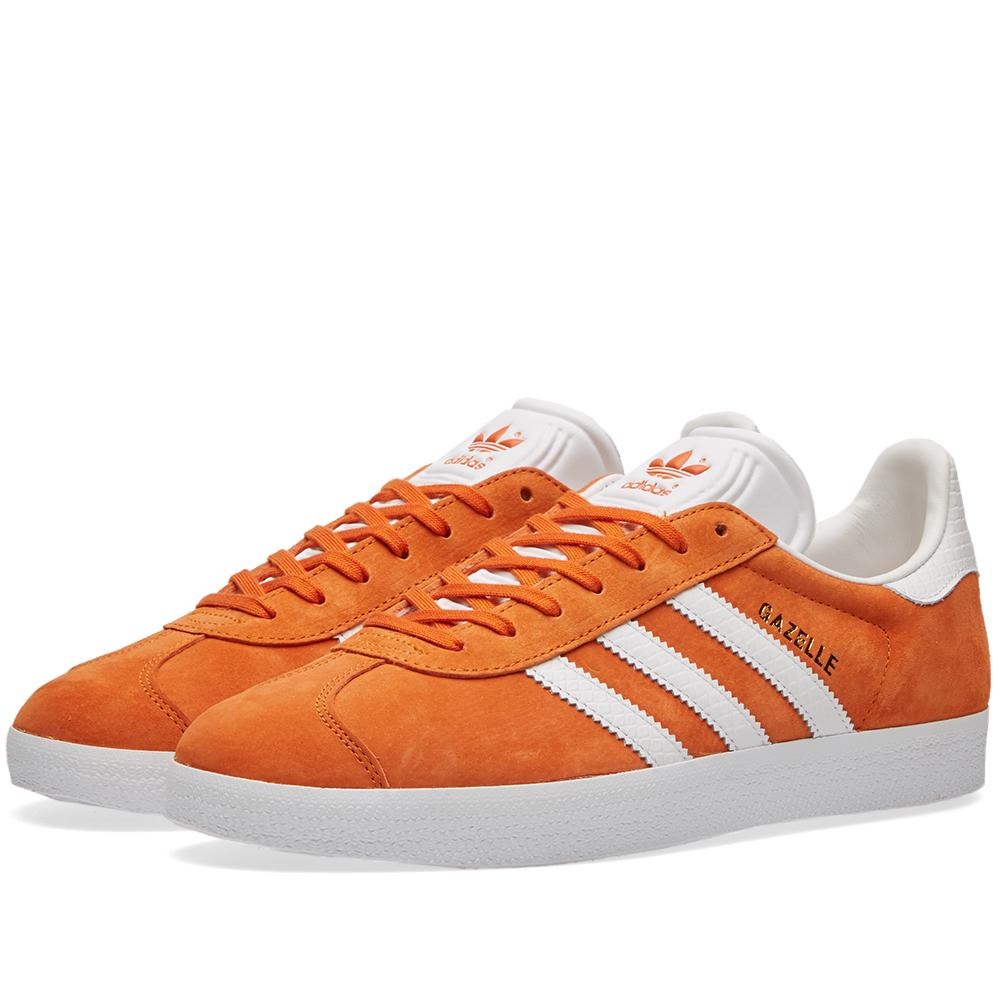 donna adidas GAZZELLA ORIGINALI PELLE MORBIDI arancione scarpe classiche