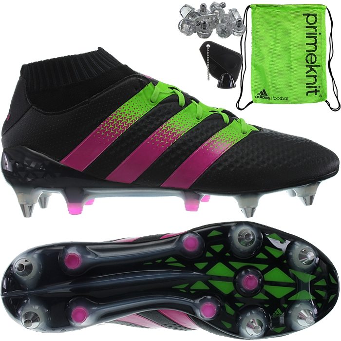 93e296e68746 Mens Adidas ACE 16.1 Primeknit SG Pro Football Boots Black Pink Green