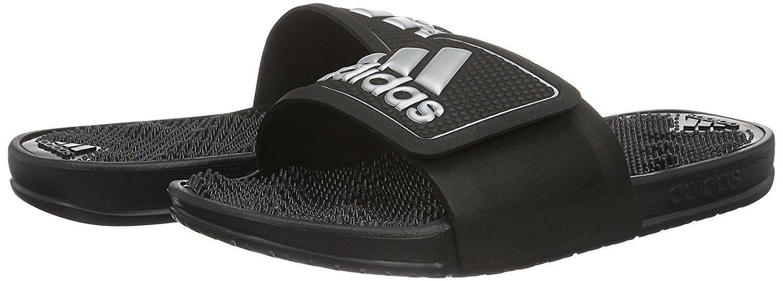 Da Uomo Adidas Adissage Plantare 20 LOGO BLACK Comfort Plantare Adissage Infradito Sandali massaggio 0c843e