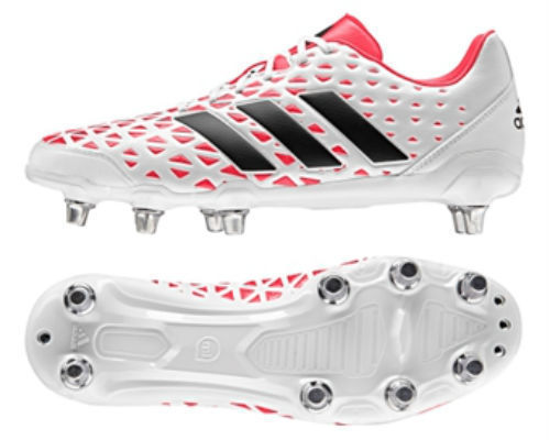 560d0160d96 Details about Mens adidas Kakari Elite SG Soft Ground Rugby Studs Boots  White Red AQ2057
