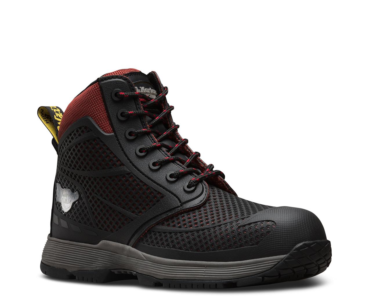 c30450ed7b1 Details about Dr Martens Calamus Composite Toe Cap Metal Free Lightweight  Safety Boots Oxblood