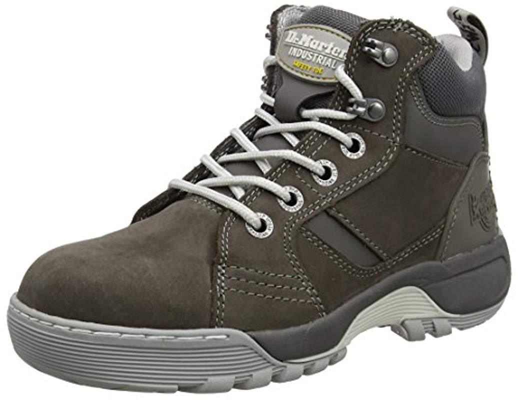 Super discount huge selection of great prices Details about Dr Martens Docs Womens Opal Grey Leather Steel Toe Cap Work  Safety Hiker Boots