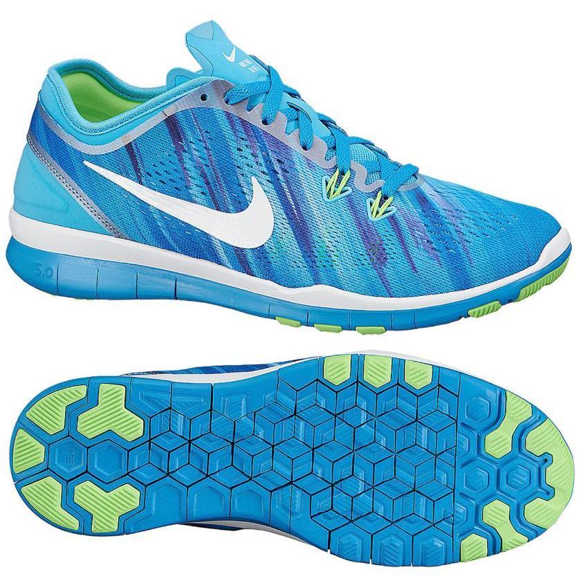 NEU Damen Nike Gratis 5 TR Passform blauer Aufdruck Fitness Turnschuhe