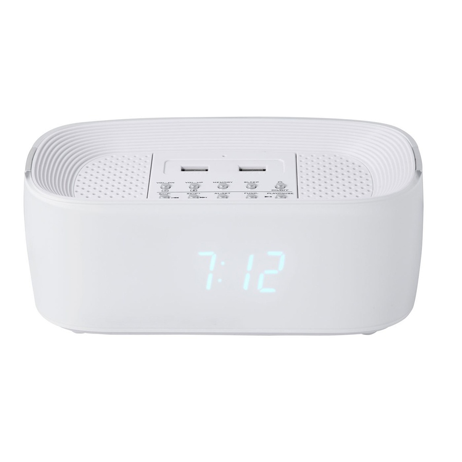 groov e bluetooth wireless alarm clock radio speaker system charger for mobiles ebay. Black Bedroom Furniture Sets. Home Design Ideas