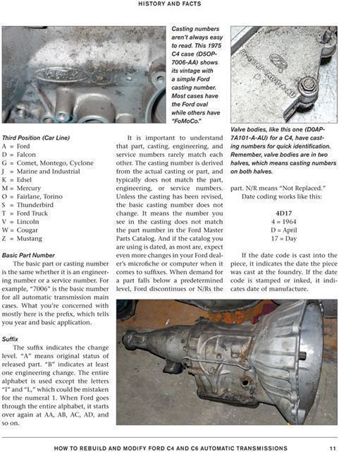 Details About Rebuild Modify Ford C4 And C6 Automatic Transmissions Manual Book