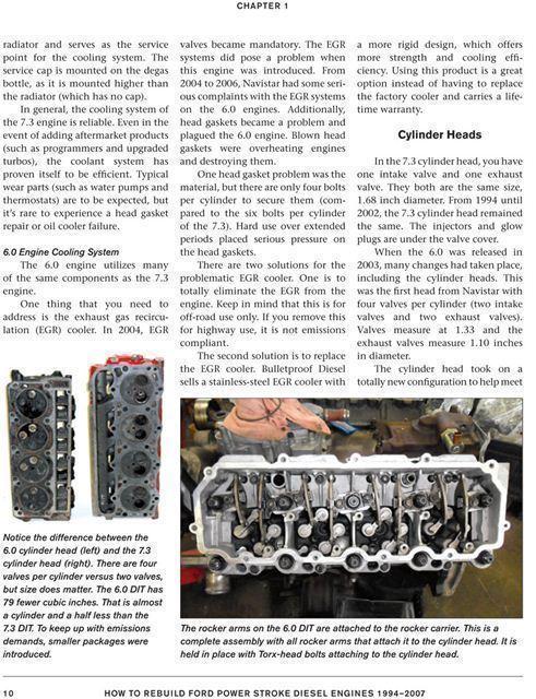 how to rebuild ford 6 0 7 3 powerstroke diesel engine 1994 to 2007 rh ebay com Lifted Ford Powerstroke Diesel Ford Powerstroke Diesel Wallpaper