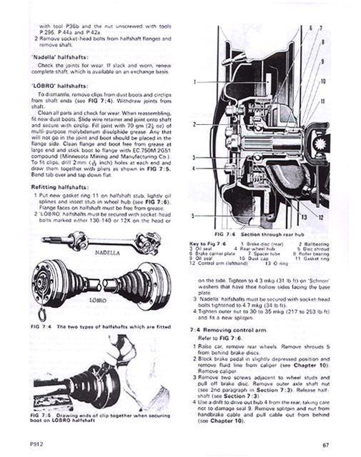 porsche 912 drivers workshop manual 1965 1966 1967 1968 1969 ebay rh ebay com porsche 912 service manual porsche 912 service manual pdf