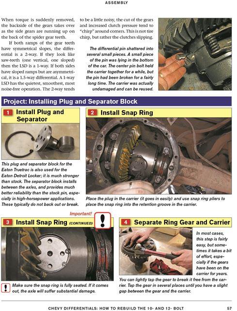Details about Repair - Rebuild Chevy 12 Bolt & 10 Bolt Rear Ends -  Differentials Book