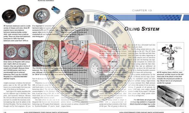 Ford V8 Parts Interchange Book 221 260 289 302 351 390 427 428 429