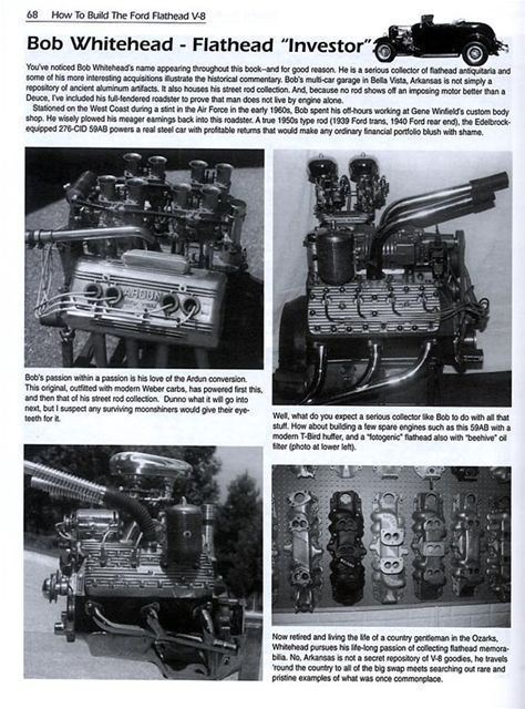 Flathead Ford V8 Book - Engine Builders Handbook 136, 221 ...