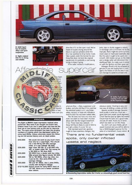 BMW Series I Ci CSi Ci Alpina B EBay - Bmw 850 alpina for sale