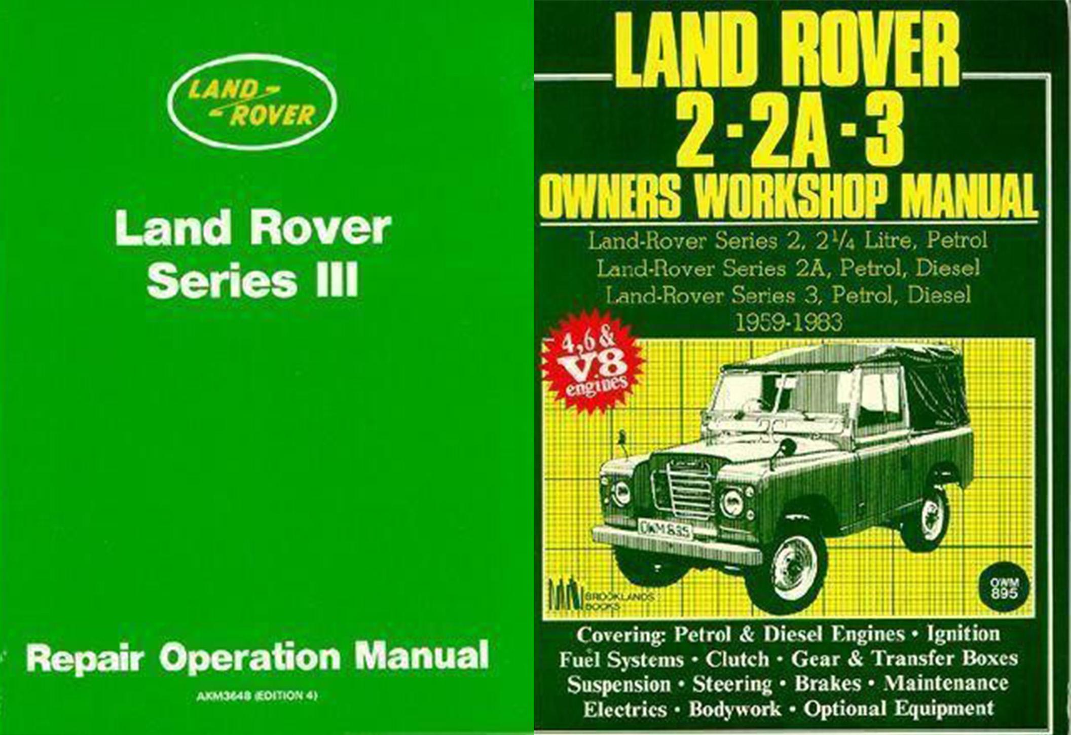 factory land rover series 3 repair operation manual & 2 - 2a - 3