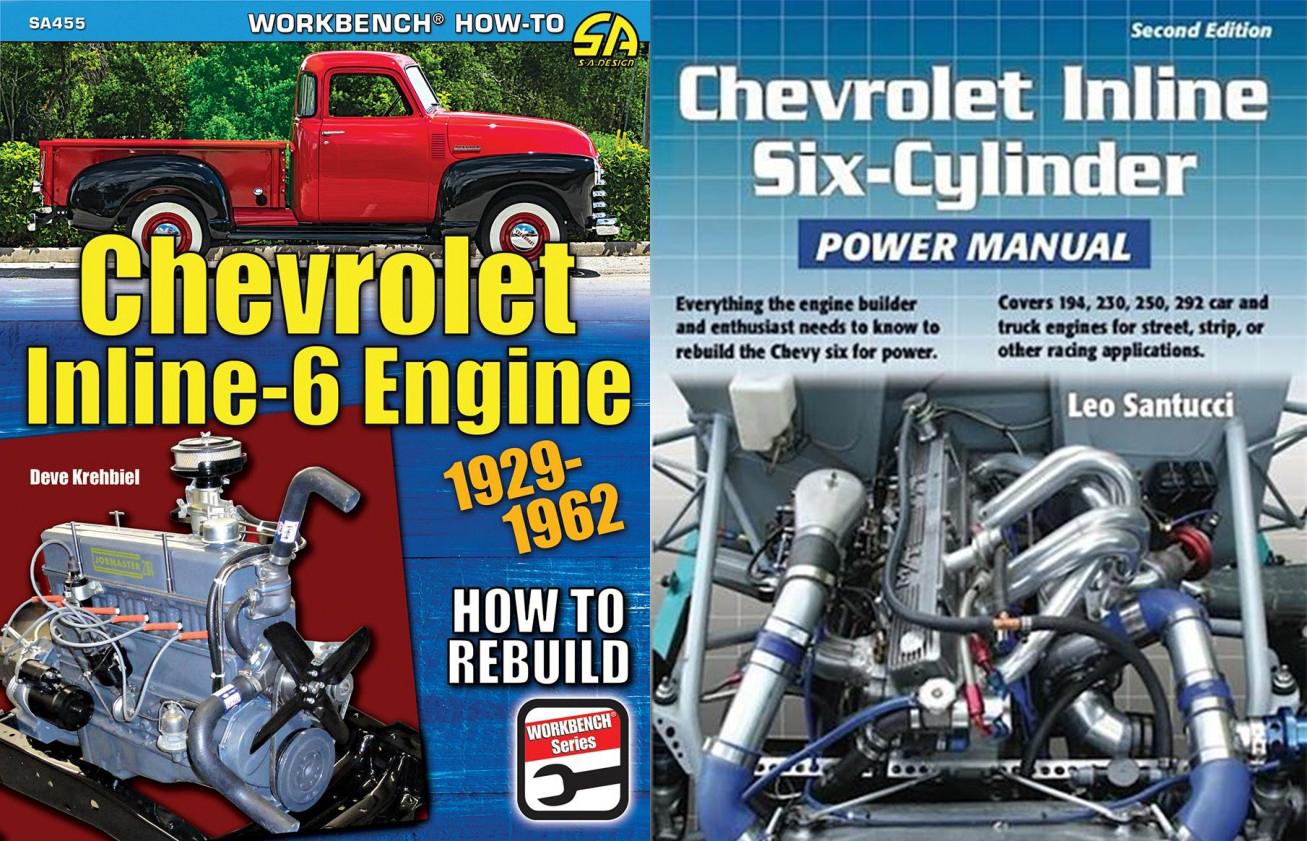 CHEVROLET MANUAL BOOK ENGINE REBUILD REPAIR SHOP INLINE 6 KREHBIEL HOW TO
