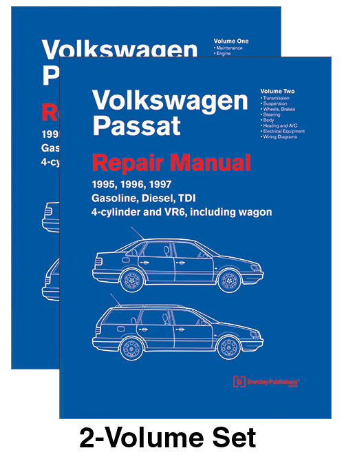 Volkswagen Passat Repair WORKSHOP SERVICE Manual 1995-1997 Gasoline ...