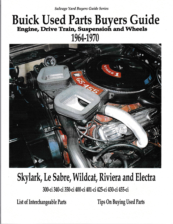 buick parts interchange manual buyers guide book 1964 70 riviera rh ebay com Search Used Auto Parts in Dayton Used Auto Parts Salvage Yards